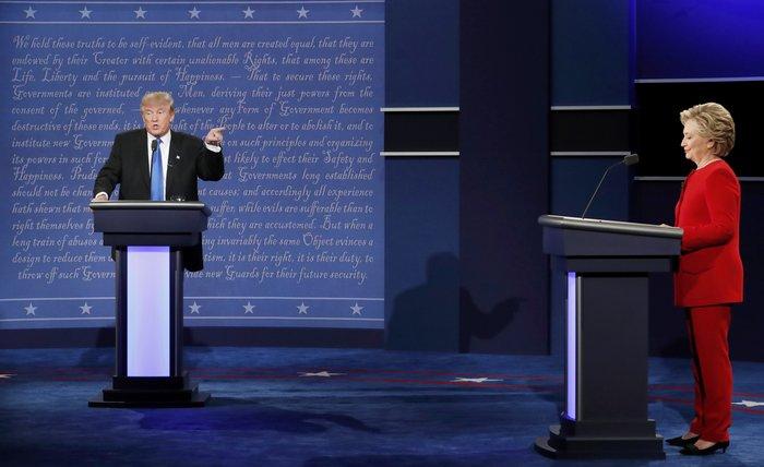 Αποτέλεσμα εικόνας για Τραμπ Κλίντον ντιμπέιτ