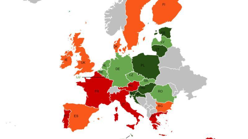 Χάρτη με χώρες της ΕΕ υπέρ και κατά της Ρωσίας σχεδίασαν οι ευρωβουλευτές